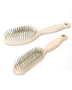 #1 All Systems Beachwood Handle Pin Brushes