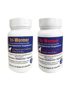 RJX Tri-Wormer Supplement for Puppies and Dogs