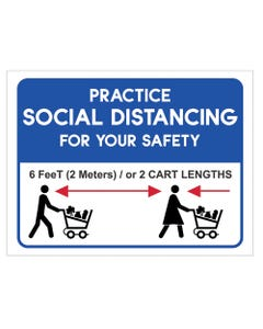 """Social Distancing - 18"""" x 24"""" Business Sign"""