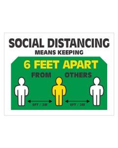 "6 Feet Apart - 18"" x 24"" Business Signs"