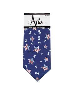 Aria Blue Bone In The USA Bandanas