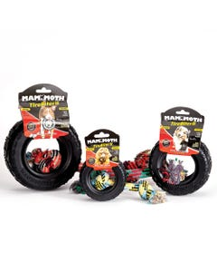 Mammoth Tirebiter II Hard Rubber Toys with Rope
