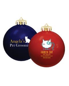 Promotional Round Holiday Ornaments
