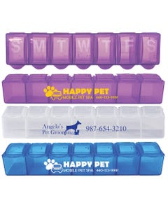 Promotional 7 Day Pill Cases