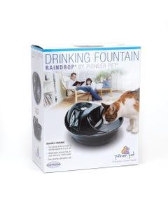 Pioneer Pet Raindrop Black Ceramic Fountain