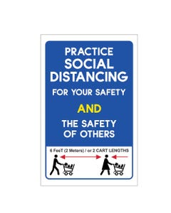 Practice Social Distancing Business Sign