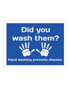 """Hand Washing Prevents Disease Sign - 18"""" x 24"""" Signs"""