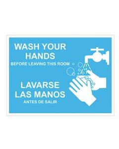 """Bi-Lingual Wash Your Hands Lavarse Las Manos - 18"""" x 24"""""""