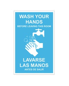 Bi-lingual Wash Your Hand Signs