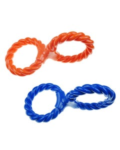 Infinity TPR/Rope Double Ring Twist Tug