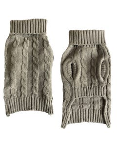 Casual Canine?« Bark to School Cable Knit Sweater