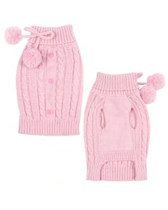 East Side Collection?« Pink Cable Knit Sweater