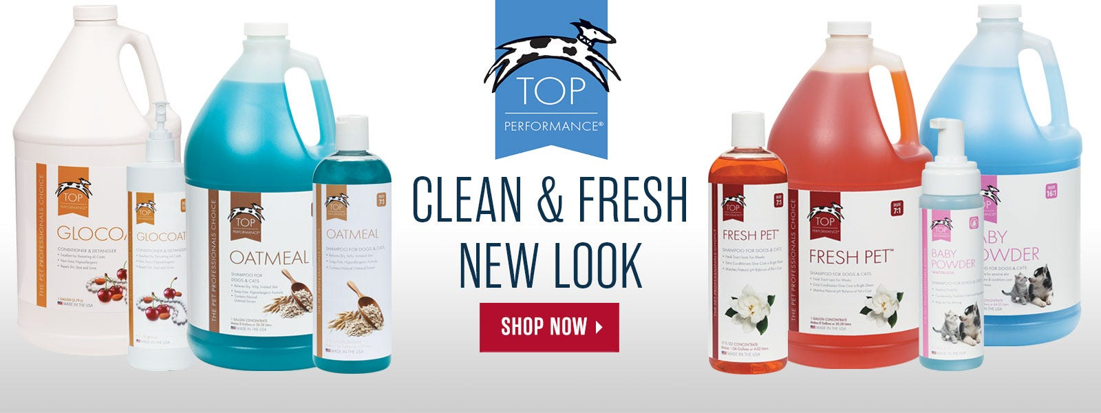 Clean & Fresh New Look - Best Selling Top Performance Professional Dog Grooming Shampoos