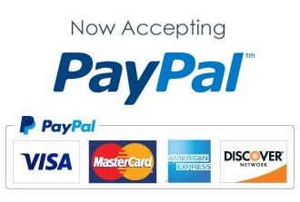New! Pay with PayPal. We accept Visa, MasterCard, American Express, and Discover Cards.