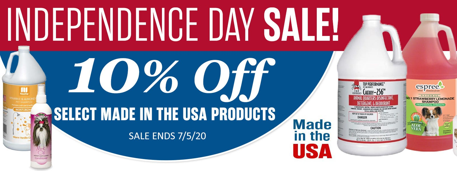 Independence Day Special! 10% of Select Made in USA Products