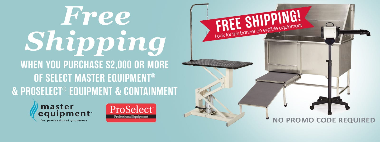 Limited time only - get free shipping on select equipment totaling $2,000 or more.