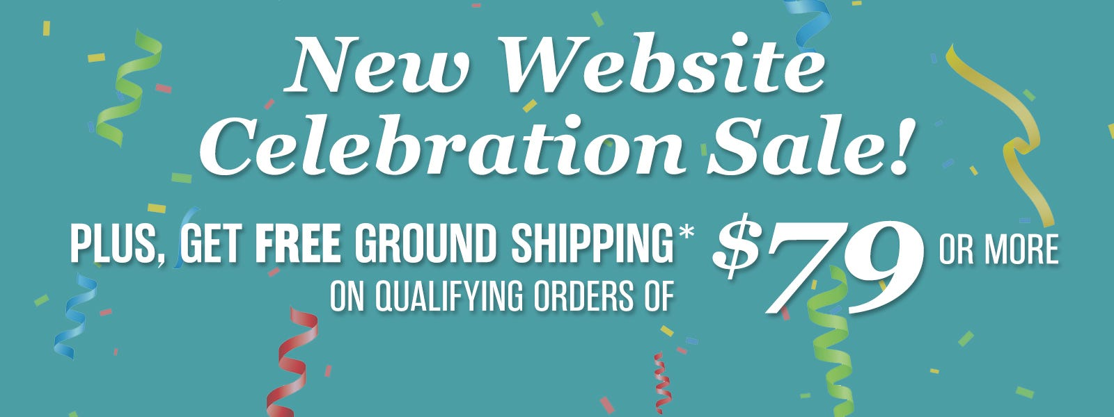 New Website Celebration Sale!