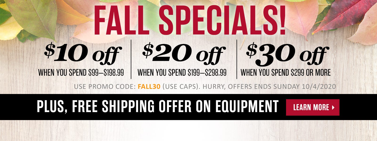 Limited time only! Save up to $30 off.