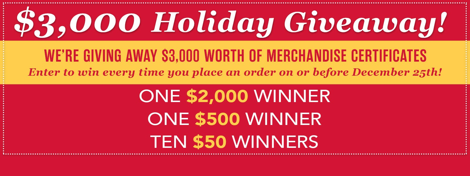 Holiday Giveaway, enter to win!