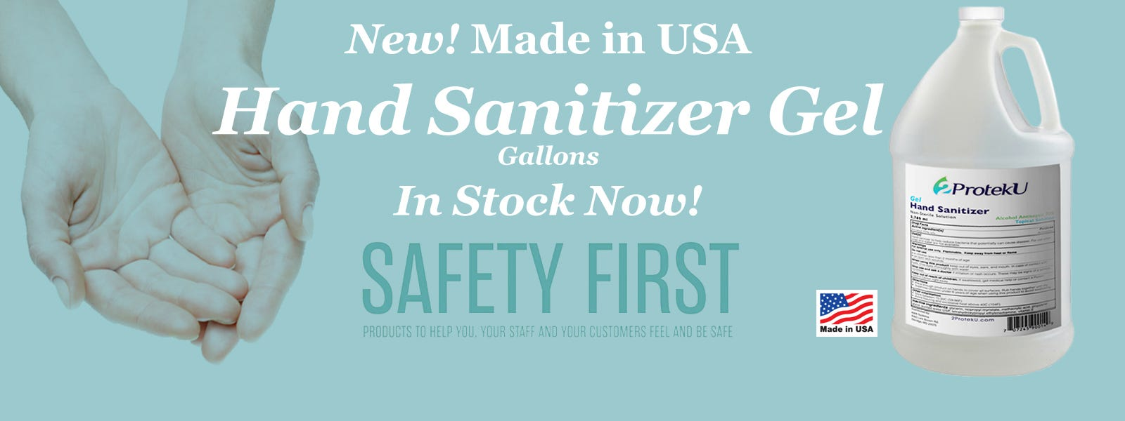 New 2ProtekU Hand Sanitizer Gel Gallons!